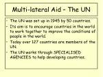 multi lateral aid the un