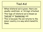 tied aid