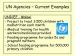 un agencies current examples