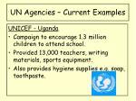 un agencies current examples1