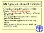 un agencies current examples3