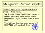 un agencies current examples4