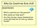 why do countries give aid