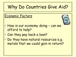 why do countries give aid1