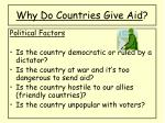 why do countries give aid2