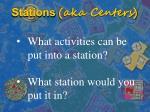 stations aka centers1