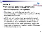 model 5 professional services agreements1