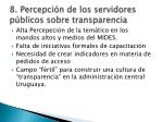 8 percepci n de los servidores p blicos sobre transparencia