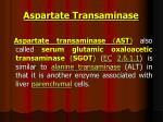 aspartate transaminase
