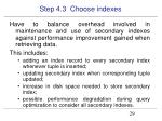 step 4 3 choose indexes3