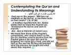 contemplating the qur an and understanding its meanings