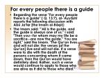 for every people there is a guide