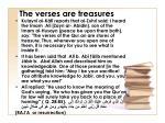 the verses are treasures