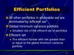 efficient portfolios1