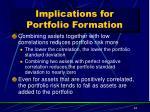 implications for portfolio formation