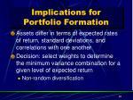 implications for portfolio formation1
