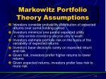 markowitz portfolio theory assumptions