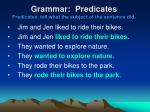 grammar predicates predicates tell what the subject of the sentence did1