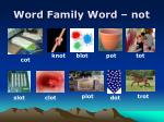 word family word not