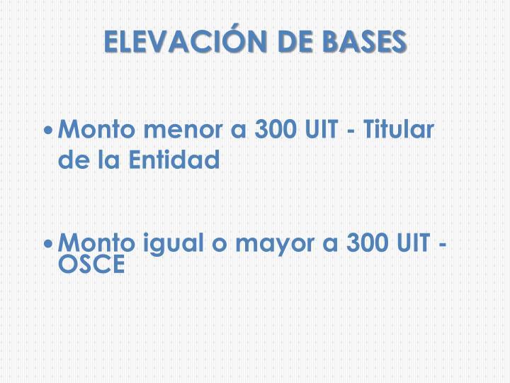 ELEVACIÓN DE BASES