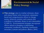 environmental social policy strategy
