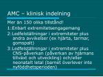 amc klinisk indelning