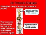 air pressure changes