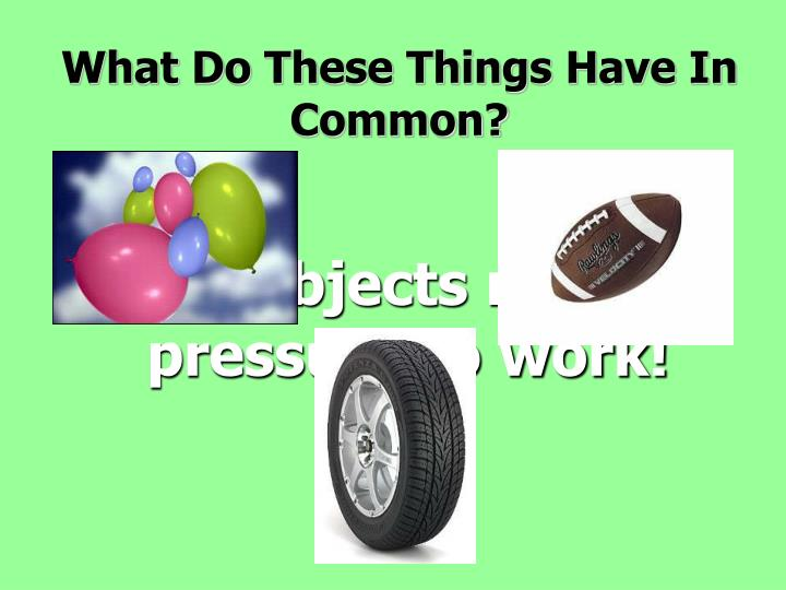 what do these things have in common n.