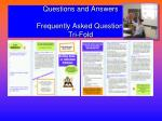 questions and answers frequently asked questions tri fold