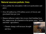 natural sources pollute fires