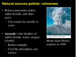 natural sources pollute volcanoes