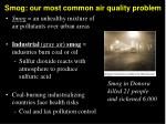 smog our most common air quality problem