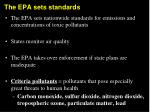 the epa sets standards