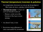 thermal temperature inversion pollution