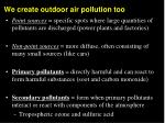 we create outdoor air pollution too