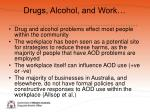 drugs alcohol and work
