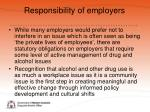 responsibility of employers