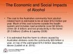 the economic and social impacts of alcohol