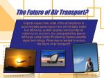 the future of air transport