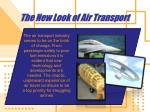 the new look of air transport