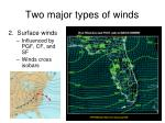 two major types of winds1