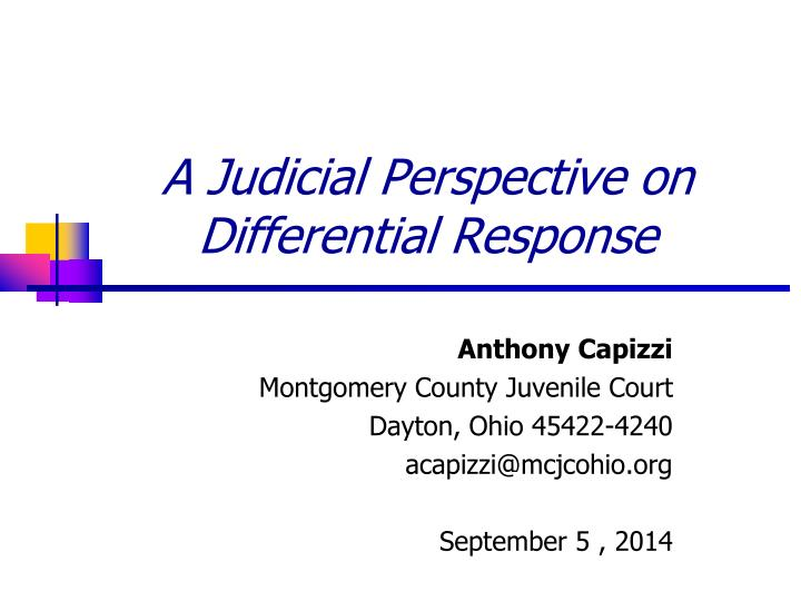 a judicial perspective on differential response n.