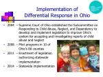 implementation of differential response in ohio