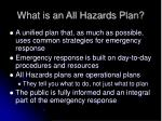 what is an all hazards plan