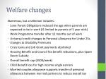 welfare changes