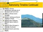 astronomy timeline continued