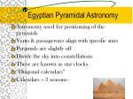 egyptian pyramidal astronomy
