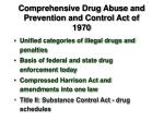comprehensive drug abuse and prevention and control act of 1970