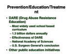 prevention education treatment