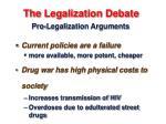 the legalization debate